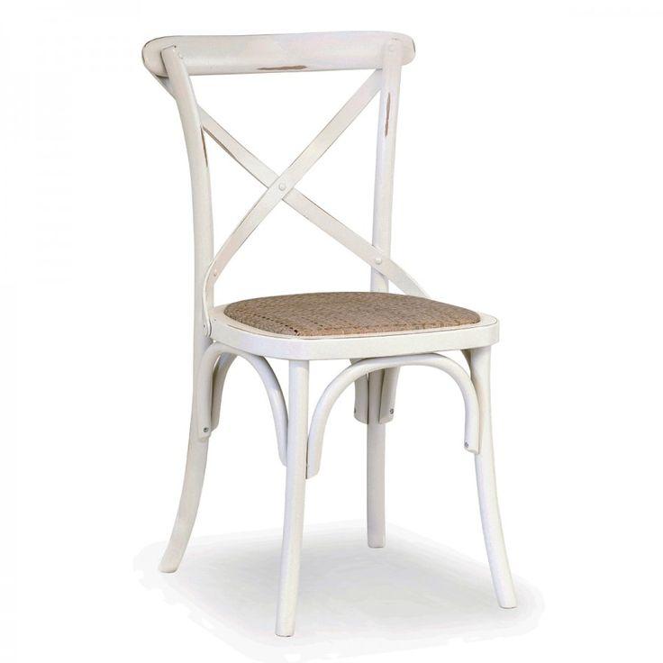 CIAO/IMB, sedia in legno di faggio con dettagli in legno curvato tipico dello stile Thonet. Il metodo della curvatura del legno tramite il vapore è stato infatti introdotto per la prima volta nell'800 grazie al Signor Thonet e ancora oggi viene mantenuta questa lavorazione artigianale.  Lo schienale è formato da due listelli di legno incrociati di forma arrotondata così da seguire la forma della schiena.