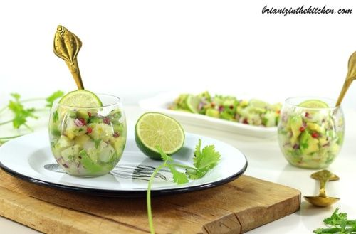 Verrines Cabillaud, Avocat, Citron Vert