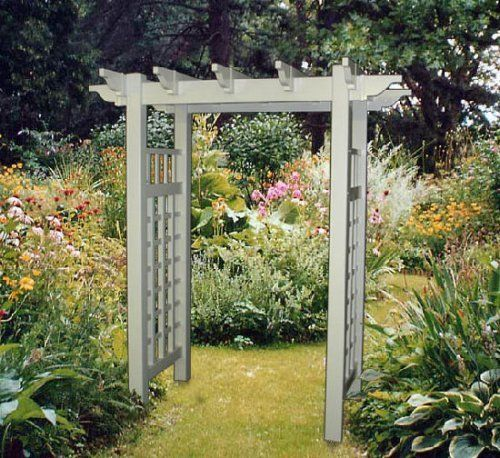The Plantation White Vinyl Arbor by In the Garden and More. $639.95. Requires with little to no maintenance. Perfect garden entrance or accent. Includes stainless steel fasteners. Price includes shipping. Made of quality vinyl. The Plantation White Vinyl Arbor, with its elegant sophistication and clean lines, offers a more modern welcoming appeal to any garden setting. The decorative caps will add distinction to your landscaping while the sides will allowing climbing vines ...