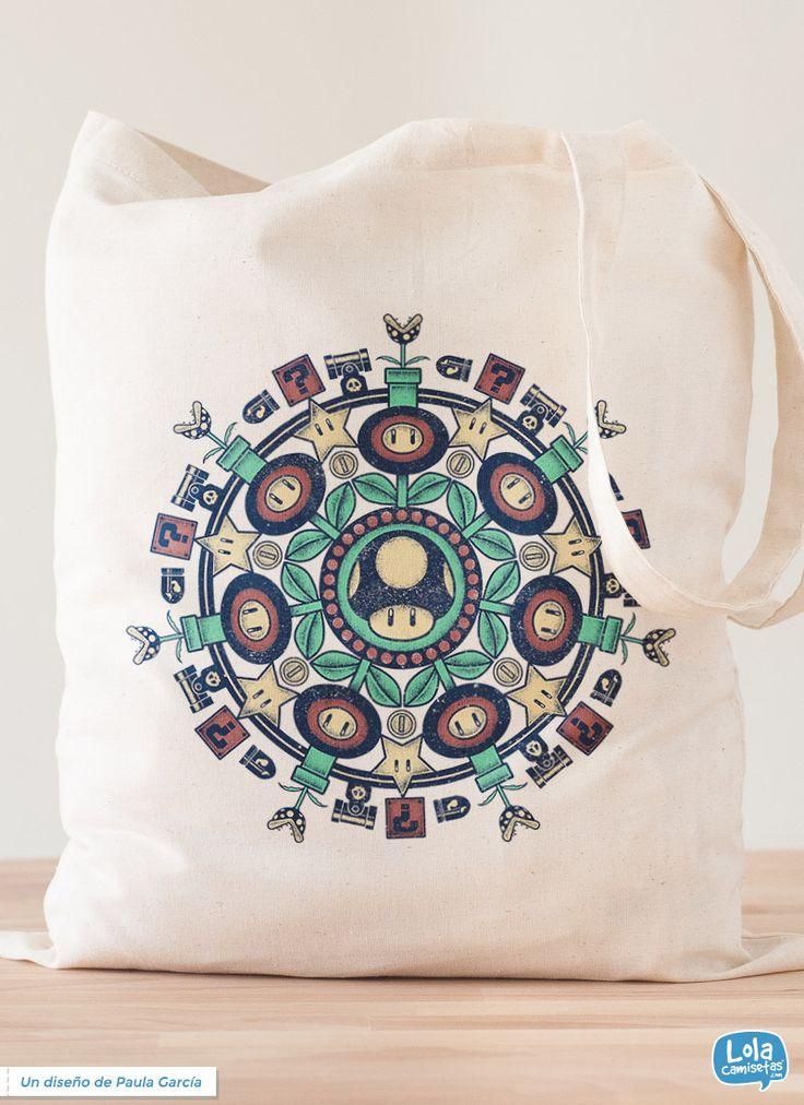 Mandala vida extra tote bag   Design by Paula García