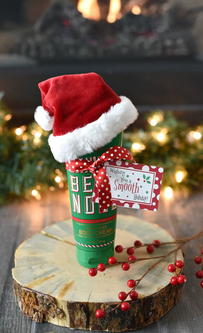 Fun Christmas Gift Idea with Lotion Holidays Pinterest