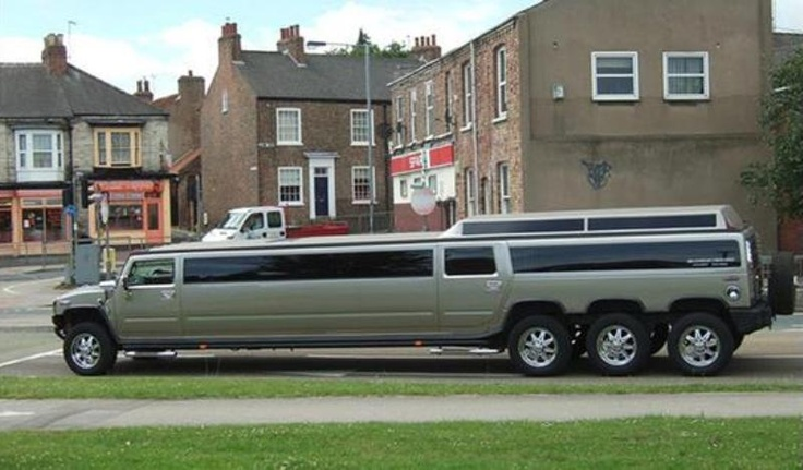 An uber limo.