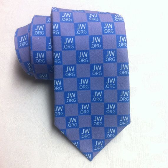 JW ORG Jehovah's Witnesses Theme Necktie by CenterStreetTieShop.       This is TOO COOL.  I NEED ONE OF THESE. !!!   :)