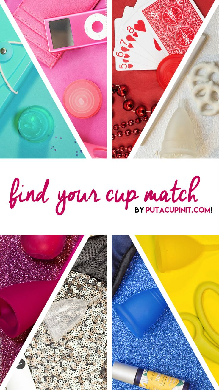 Take our Put a Cup In It quiz to figure out what menstrual cup is best suited for your age, activity level, and build.