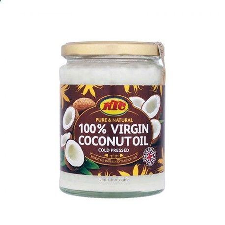 KTC - Huile de noix de coco vierge - Pure Natural Virgin Coconut Oil Huile de noix de coco 100% vierge. Première pression à froid. Utilisée comme huile capillaire, elle favorise une croissance saine et régénère les cheveux qui saffinent tout en favorisant un cuir chevelu sain. Qualité supérieure. Pot en verre. Huile polyvalente.