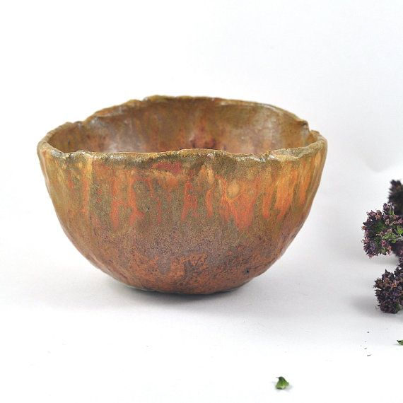 Ceramic Bowl Rustic Decor Handmade Pottery by DeeDeeDeesigns