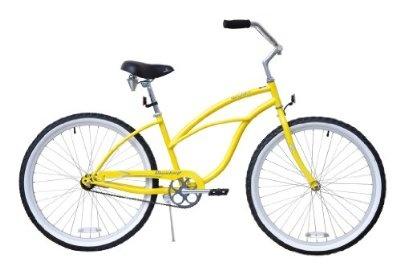 Cruiser Bike - Firmstrong Urban Lady Single Speed - Womens 26 Beach (Yellow)