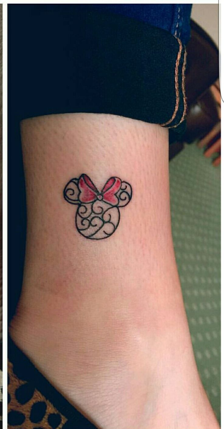 2017 01 small tattoo designs for women on foot -  Disney Tattoo Small