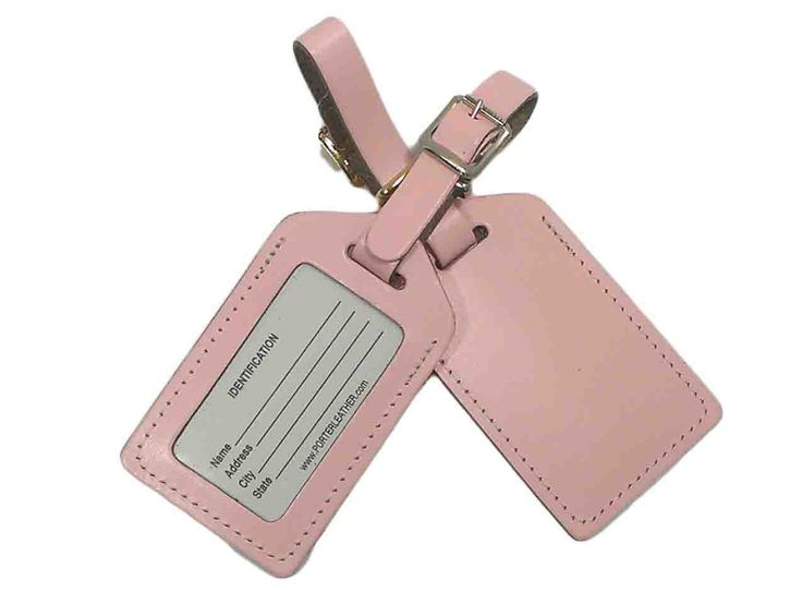 12 best Wedding Escort Favor Leather Luggage Tag images on ...