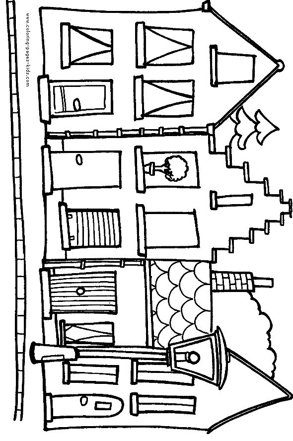 276 best COLORING PAGES HOUSES BUILDINGS TREE HOUSES