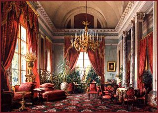 Drawing Room In Alexander Palace, Watercolor, 1863.