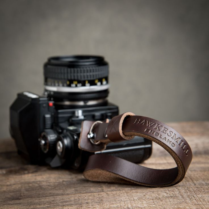 Our Oxford leather camera wrist strap is made from premium Horween Chromexcel leather, which is durable, yet soft. Handmade in England.
