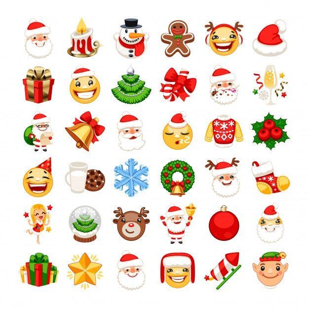 Christmas Emojis Set Premium Vector Premium Vector Freepik Vector Christmas Christmas Tree Tree Santa Claus In 2020 Emoji Christmas Vectors Western Artwork