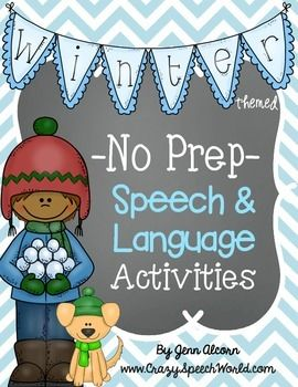 This Winter No Prep Packet is a great therapy tool on the go! It is filled with activities to target various expressive and receptive language skills, and articulation! These activities can be used in small group intervention, centers, or for homework…and it's all in black and white, so you can just PRINT and GO!