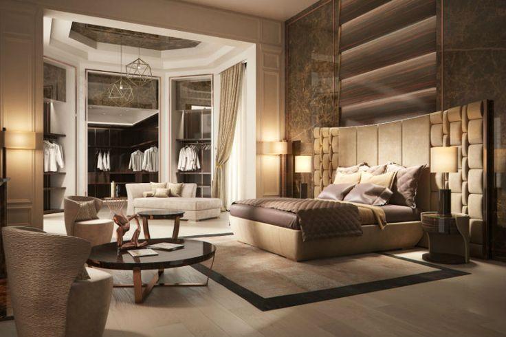 Halle 3 in #salonedelmobile 2016 Mailand - wo der Luxus lebt | Boca do Lobo, Christopher Guy, Fendi Casa... Schöner Wohnen. Luxus Schlafzimmer von #Capital.  wohn-designtrend.de/