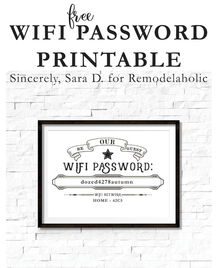 how to show network password