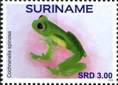 Stamp: Frogs (Suriname) (Frogs) Col:SR 2016-072