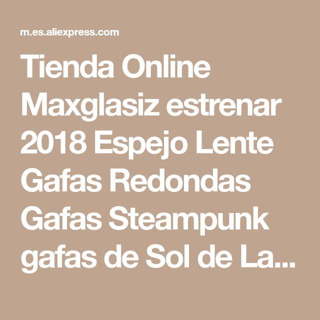 Tienda Online Maxglasiz estrenar 2018 Espejo Lente Gafas Redondas Gafas Steampunk gafas de Sol de La Vendimia Retro Para hombres y mujeres Hisper Eyewear | Aliexpress móvil