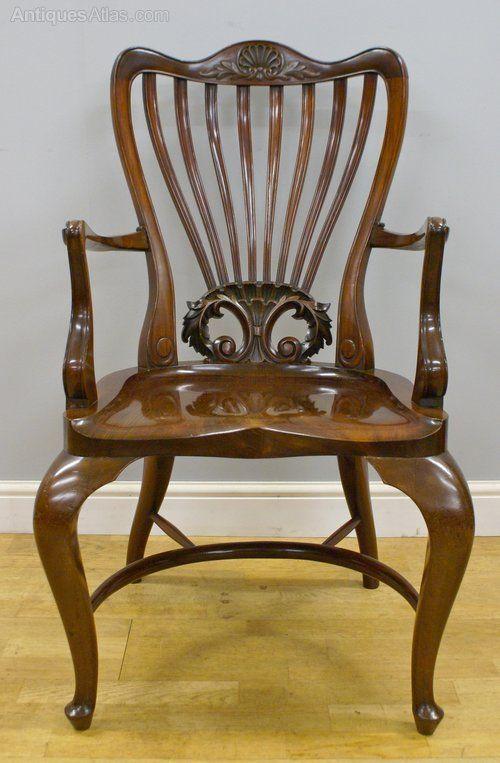 ~ A High Quality Victorian Mahogany Arm Chair ~ antiques-atlas.com