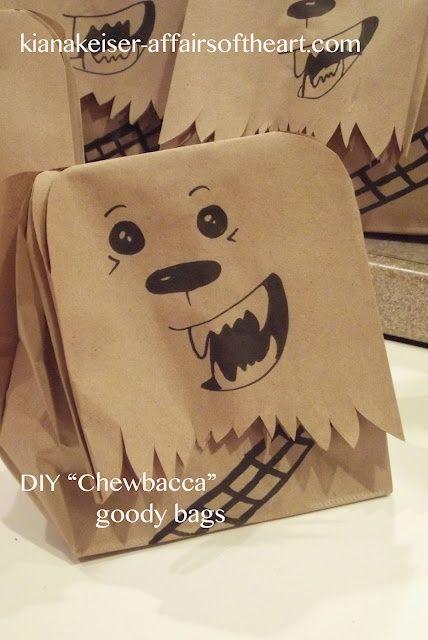 DIY (mostly) STAR WARS Birthday party bag!