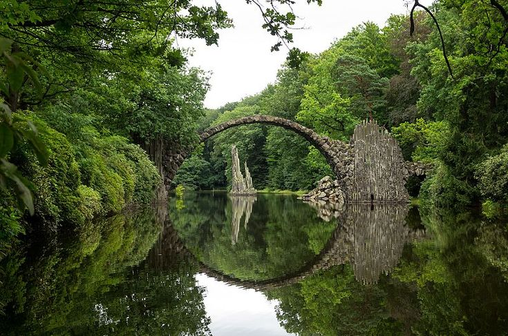 Albrecht Landgraf of Germany took a roadtrip with his family in Saxony and captured this phootgraphy of a serene lake garlanded with lush greenery, with the arc of a bridge perfectly meeting its reflection in the water.  His family may have long since left Saxony, but Albrecht returned to rediscover his roots—and left the region a gift.