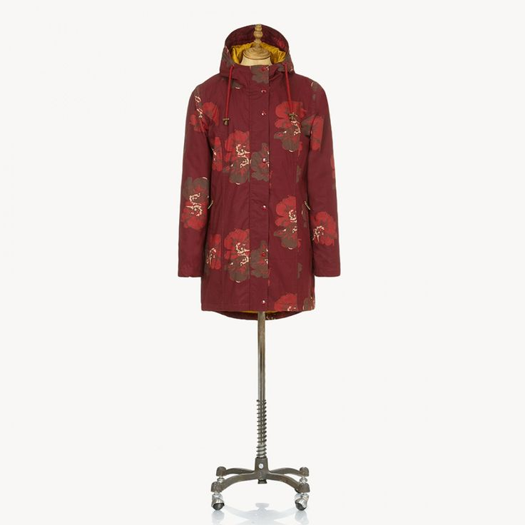 GLORIA - Waterproof Coat - Tapestry Pansy