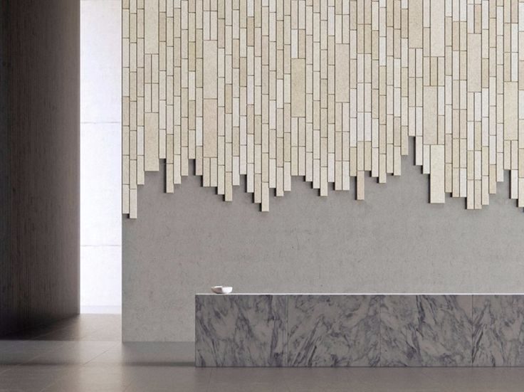 Decorative acoustical panels BAUX ACOUSTIC TILE PLANK by BAUX design Form Us With Love