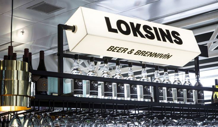 Loksins signage designed by karlssonwilker. #sign #branding