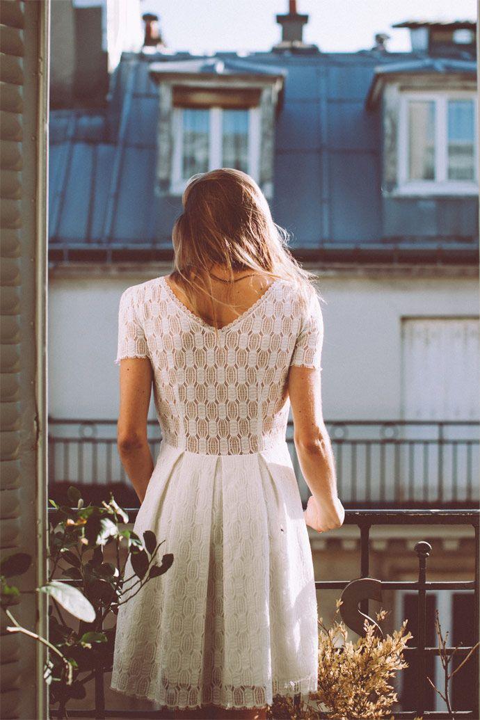 La collection civile 2016 de Lorafolk | Modèle : Robe Gary dentelle | Photographe : Laurence Revol | Donne-moi ta main - Blog mariage