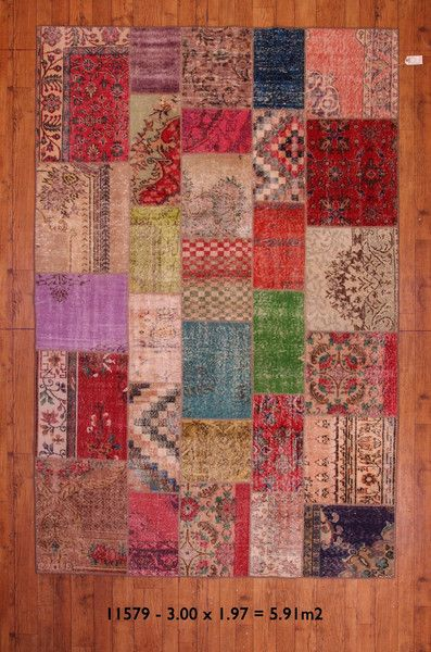 11579 - Vintage Patchwork Rugs - Multi Undyed