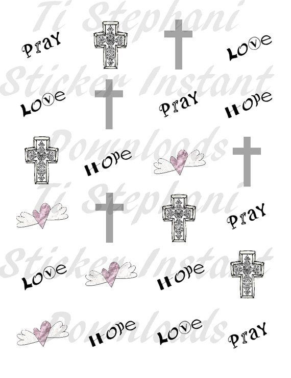 Christian Stickers with White background 24 Stickers by TiStephani