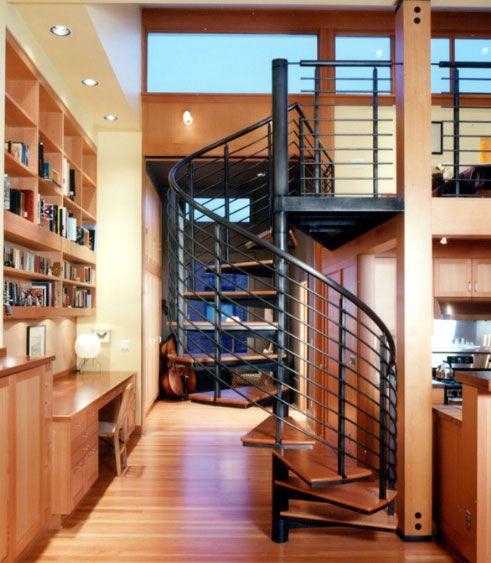 La escalera es un tipo de elemento decorativo que muchas veces está presente en algunas casas.