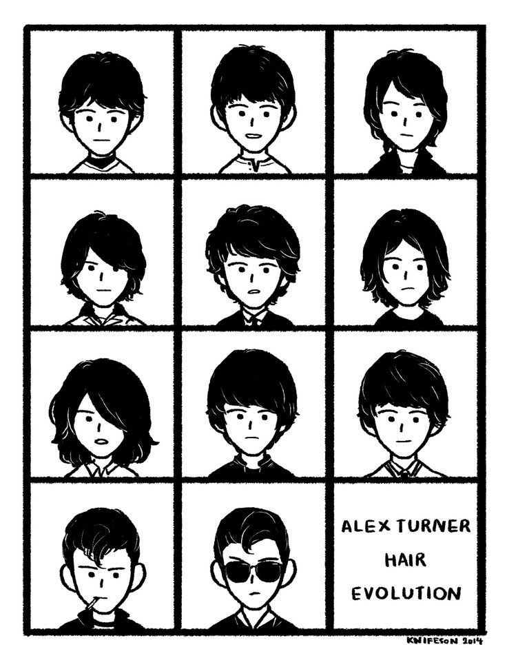 Alex Turner hair evolution - huge throwback, such a cutie