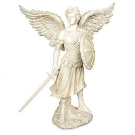 Aartsengel Michael, te bestellen via http://www.soulgoodz.nl/nl-NL/mod/artikelgroepen/9162/9285/archangel-michael-figurine-statue-by-angel-star.htm