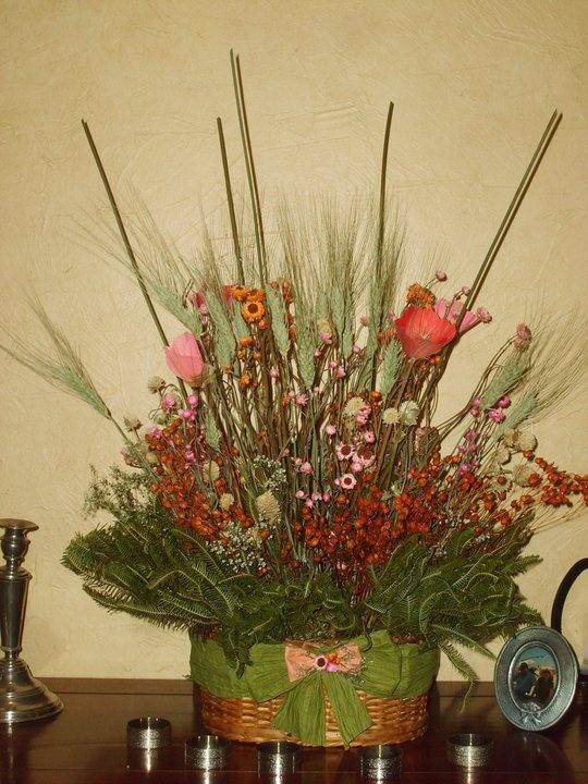 arreglo floral seco