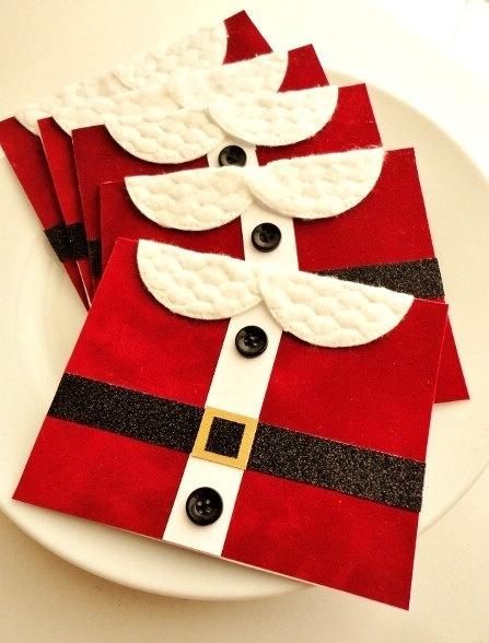 Red Velvet Santa Suit Christmas Card Set by InspiredGreetingsAD, $20.00