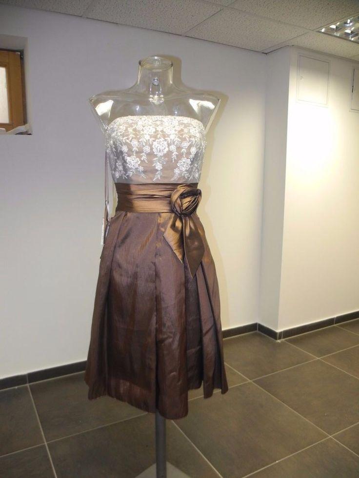 Unique Edel Abendkleid Brautkleid Ausstellungsst ck gr