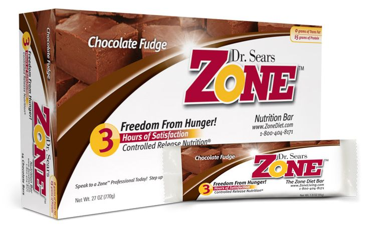 Zone chocolate fudge nutrition bars are made with Controlled Release Nutrition technology. Satisfy your hunger with these meal replacement bars.