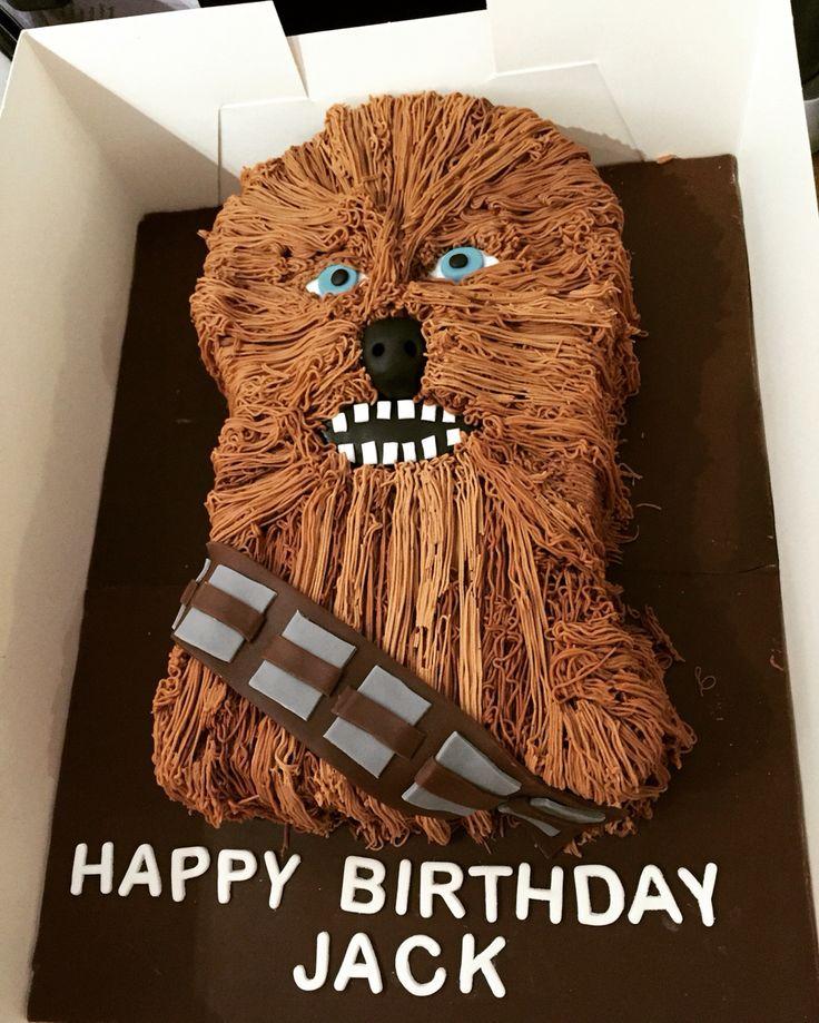 Chewbacca Star Wars birthday cake
