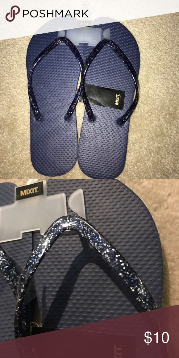 Brand new navy blue sparkly flip flops Super cute, never worn navy blue sparkly flip flops perfect for summer!! (Pacsun for exposure)💗SMOKE-FREE/PET FREE HOME! 💗OPEN TO TRADES 💗USE OFFER BUTTON (no low ball please, remember Posh takes 20%) 💗SAME DAY/NEXT DAY SHIPPING 💗Thank you:) PacSun Shoes Sandals