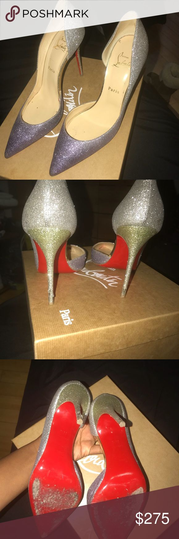 Christian Loubiton Shoes, Sparkle Size 39.5 Christian Loubiton Shoes, Sparkle Size 39.5!  Has been worn before but still in Good condition! Available for PICK UP also! ONLY ACCEPTING PAYPAL ( will send invoice ), or CASH APP! Will ship overnight fedex for free.. refunds are acceptable if your not satisfied! Christian Louboutin Shoes Heels