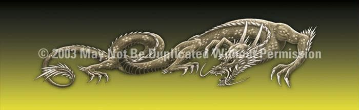 Window Graphic - 20x65 Dragon Tattoo Yellow