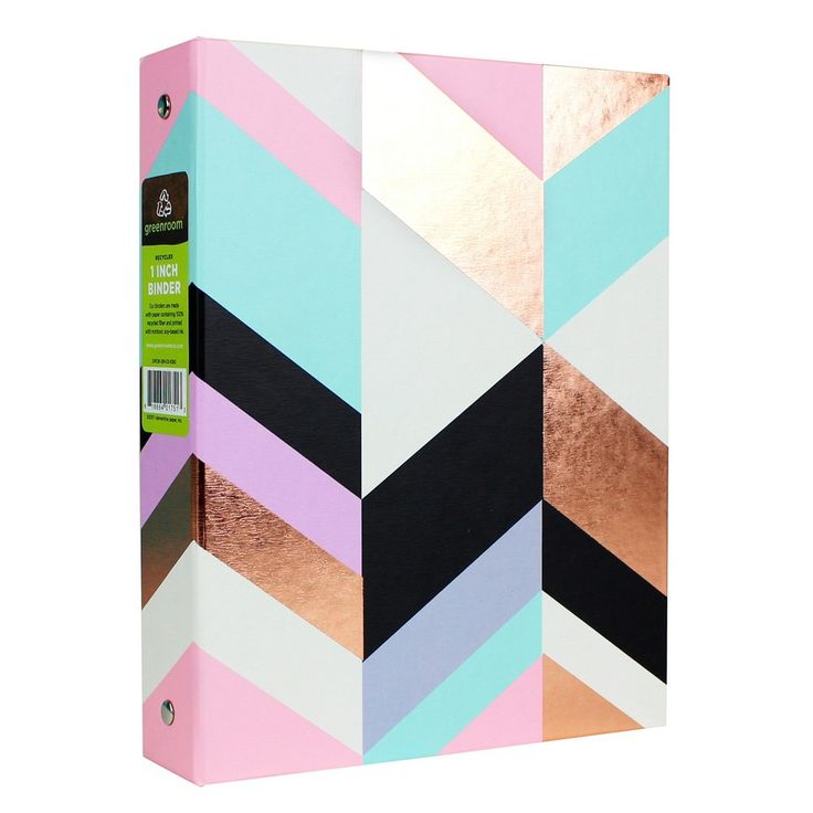 "Mini 1 Ring Binder, 9"" x 7"", Rose Gold - greenroom,"