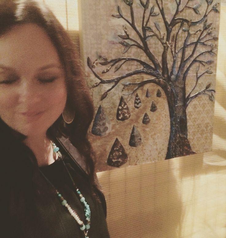 A walk in the woods. Mixed Media. Katie Watts Ocean Shores Art Exhibition 2015