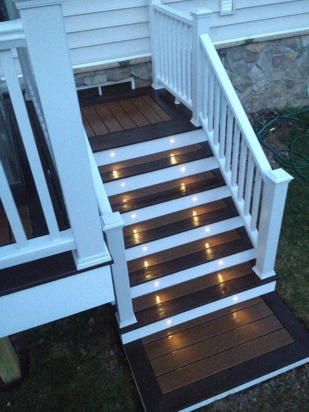 Trex transcends deck colors treehouse firepit accent trex deck lighting