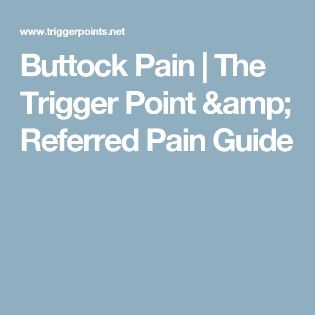 Buttock Pain   The Trigger Point & Referred Pain Guide