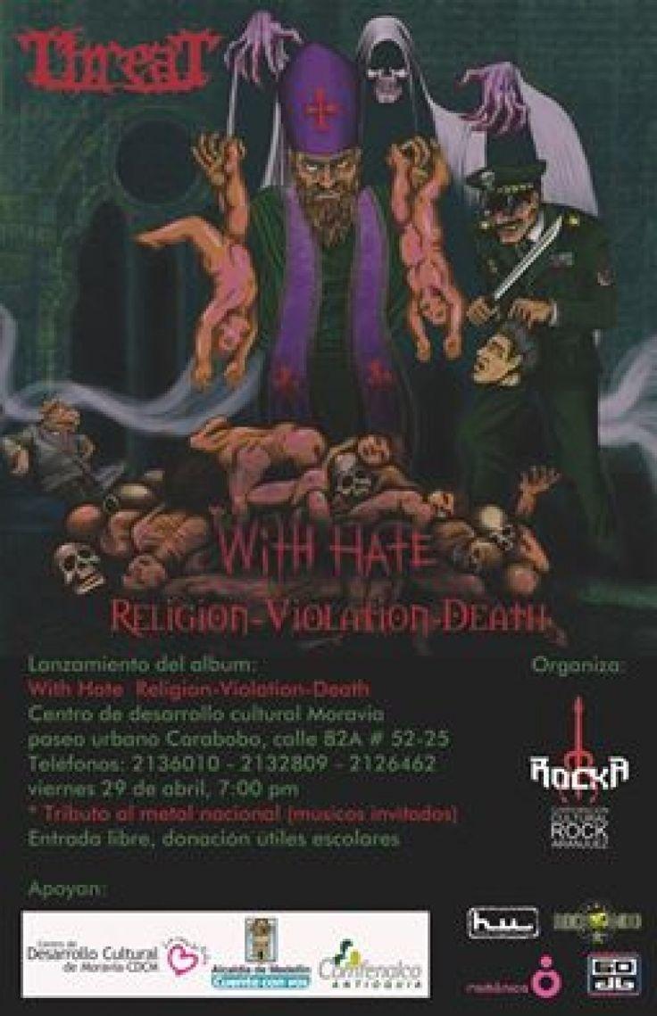 """Con invitados de Athanator, Witchtrap e I.R.A, Threat lanzará en concierto su disco """"With Hate""""..."""