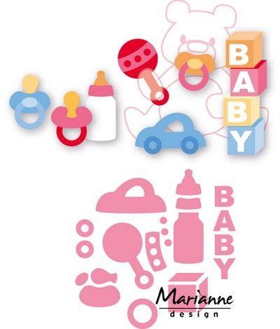 Marianne Design - Die - Collectables - Eline`s baby essentials