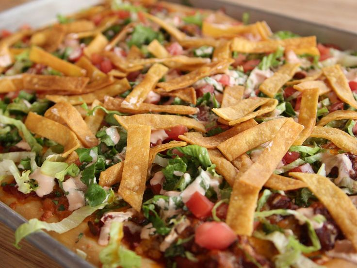 Chicken Taco Meat Pizza recipe from Ree Drummond via Food Network