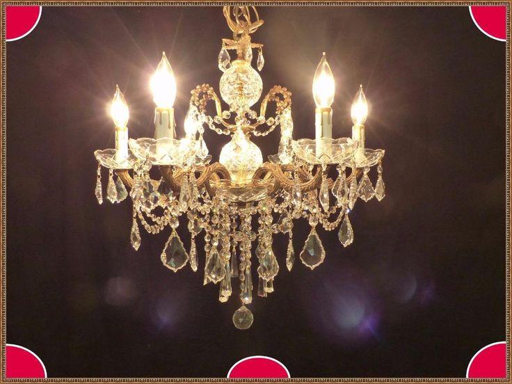 Stunning Vintage European Brass Amazing European Crystals Chandelier   eBay